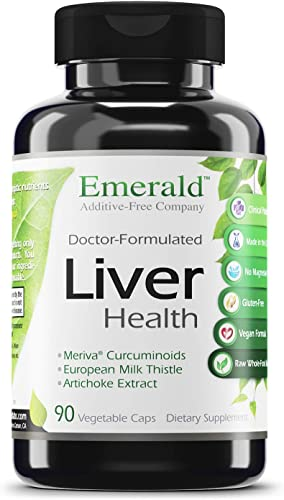 Emerald Laboratories Liver Health - with Silymarin Milk Thistle Meriva Phytosome - Promotes Liver Health, Weight Management, Cleanse - Emerald Labs - 90 Vegetable Capsules