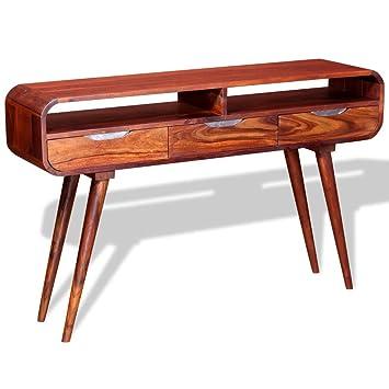 VidaXL Console Table Solid Sheesham Wood 120x30x75 Cm