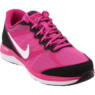1485a110cb2ab Nike Girl s Dual Fusion Run 3 (GS) Running Shoe Hot Pink Black