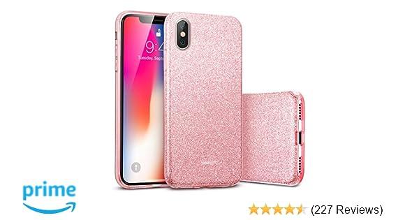 Amazon.com  ESR Makeup Glitter Case for iPhone X iPhone 10 8cfa9f182
