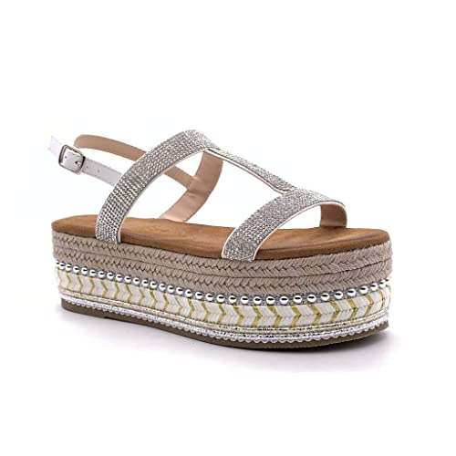 Mode Folk Chaussure Sandale Espadrille Angkorly Plateforme Nny8wvm0O