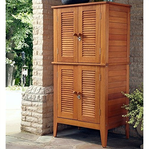 Home Styles Montego Bay Outdoor Multi-Purpose Storage Cabinet, Four Door