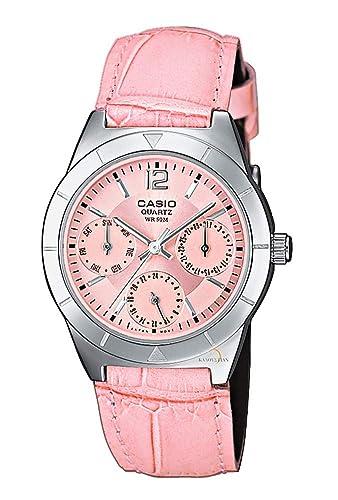 Casio Reloj Multiesfera para Mujer de Cuarzo con Correa en Piel LTP-2069L-4AVEF: Amazon.es: Relojes