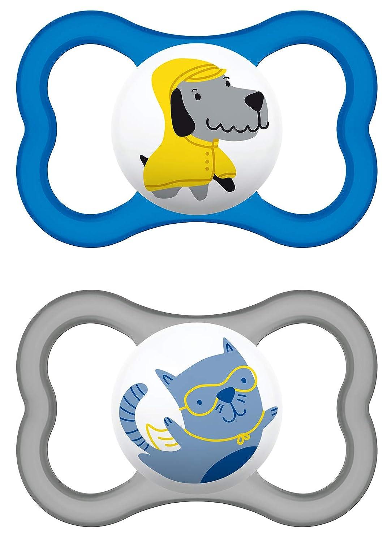 Ciuccio Air in lattice per maschietti dai 16 mesi in su MAM 217111 Colori// modelli assortiti confezione doppia