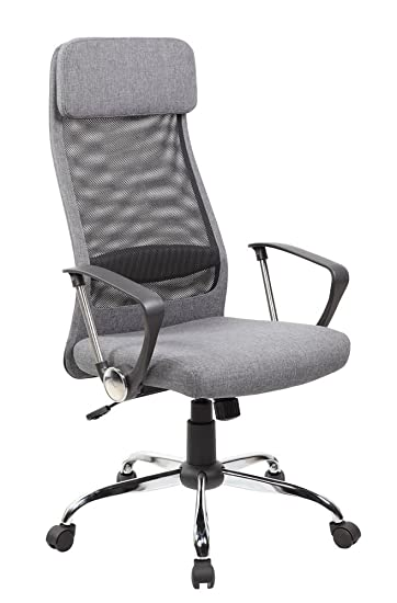 office chair fabric upholstery. eurosports es8045gr high back mesh and fabric swivel office chair with upholstery