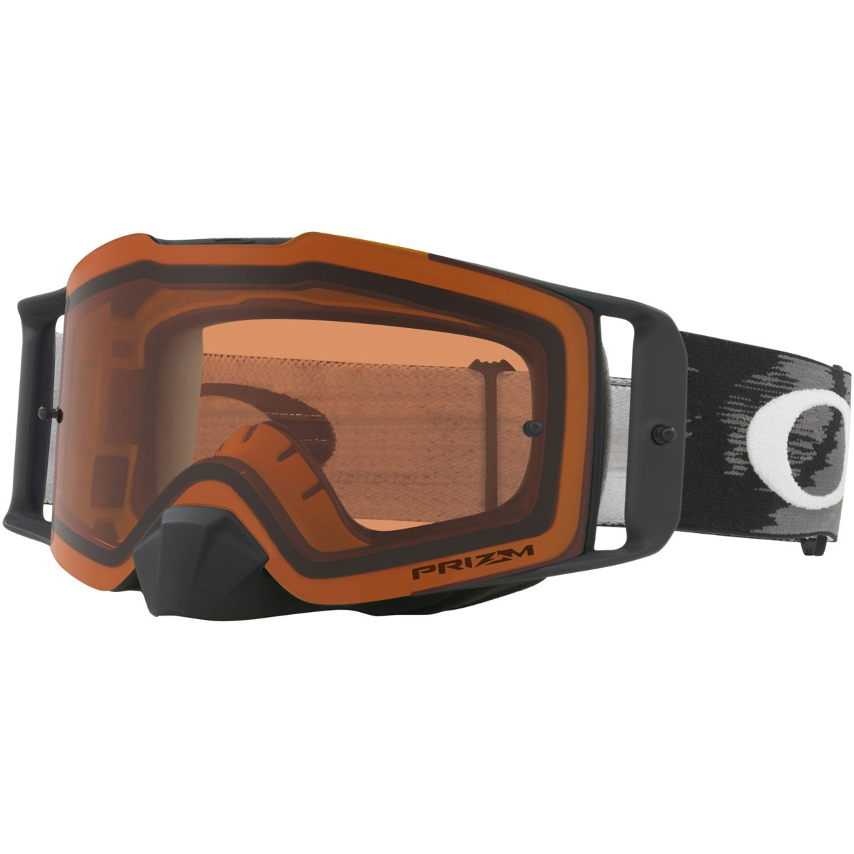 Oakley Front Line MX MatteBlkSpeed with PrzmBronz unisex-adult Goggles (Black, Large), 1 Pack