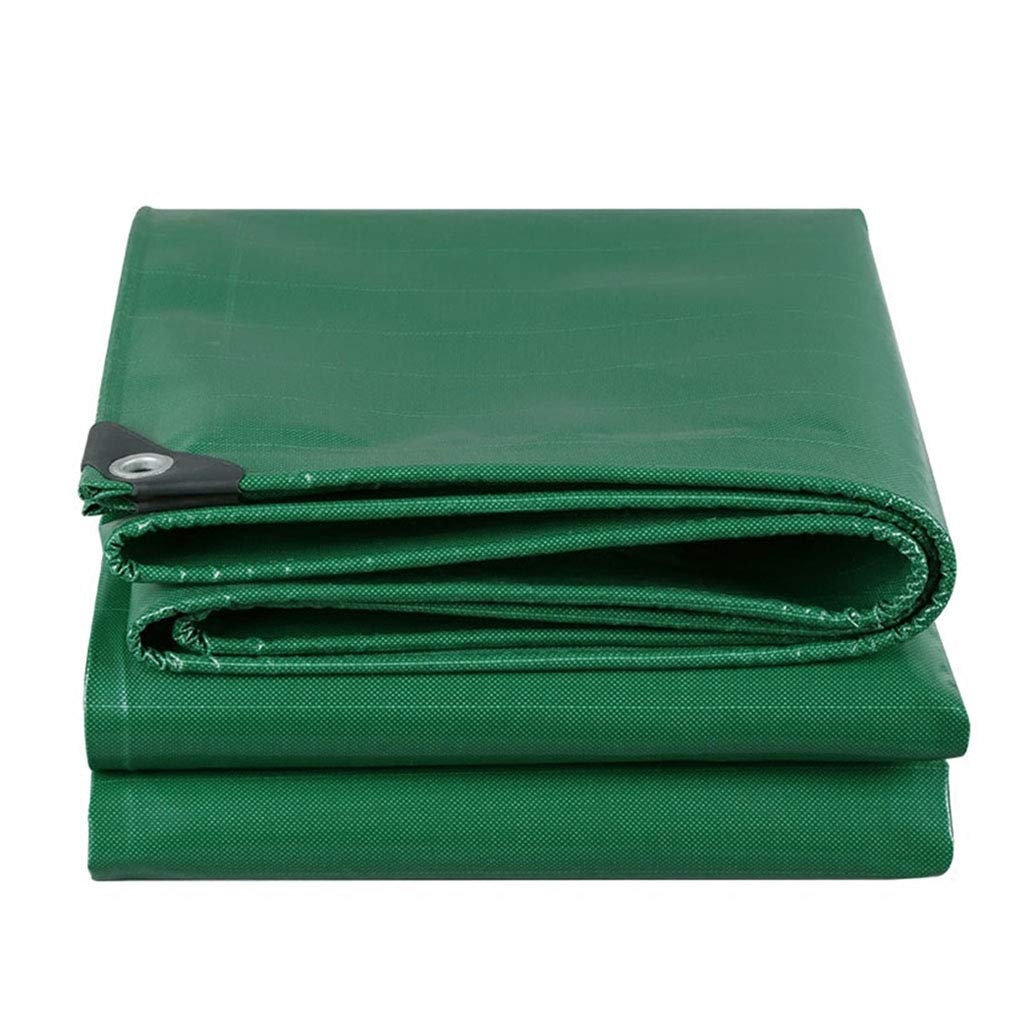 YX-Planen Dicke, Starke Wasserdichte Plane Grün Mehrzweck Reversible - Hohe Dichte 100% wasserdicht und UV-geschützt - Dicke 0,45 mm, 500 g m²