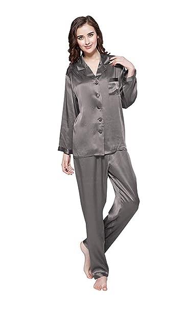 vendite calde ab185 920d8 LilySilk Pigiami Donna di Seta Stile Classico 100% Seta di Mora Naturale di  22 Momme