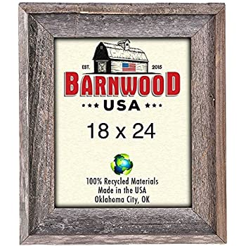 Amazon Barnwoodusa Rustic 18 By 24 Wooden Picture Frame With 2