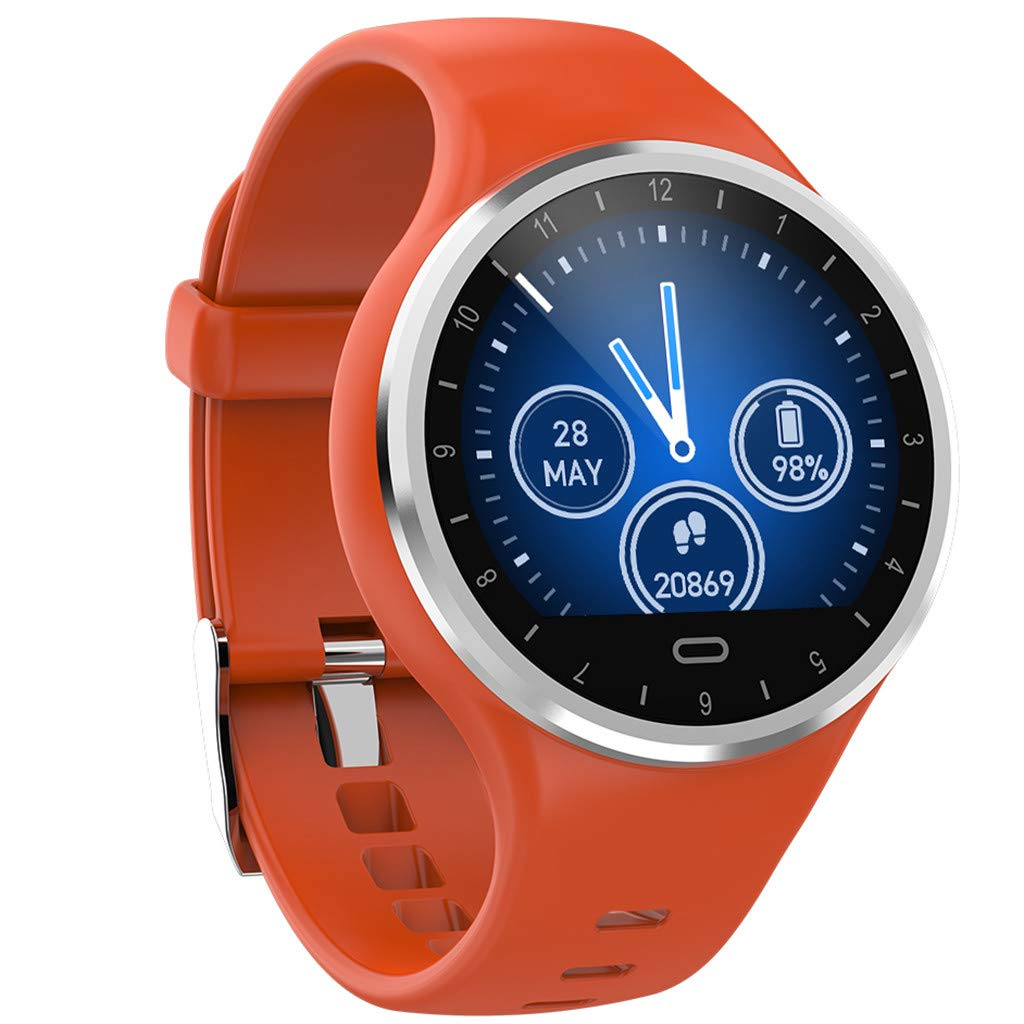 GXOK Smart Watch for Android and iOS,Sports Fitness Calorie Wristband Wear Smart Watch for Men Women (Orange) by GXOK (Image #3)