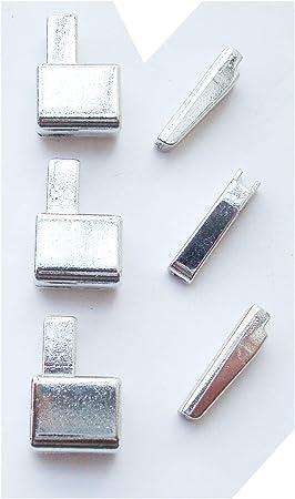 3 Sets #12 caja de retención de la cremallera de Metal y Pin de inserción, Kit