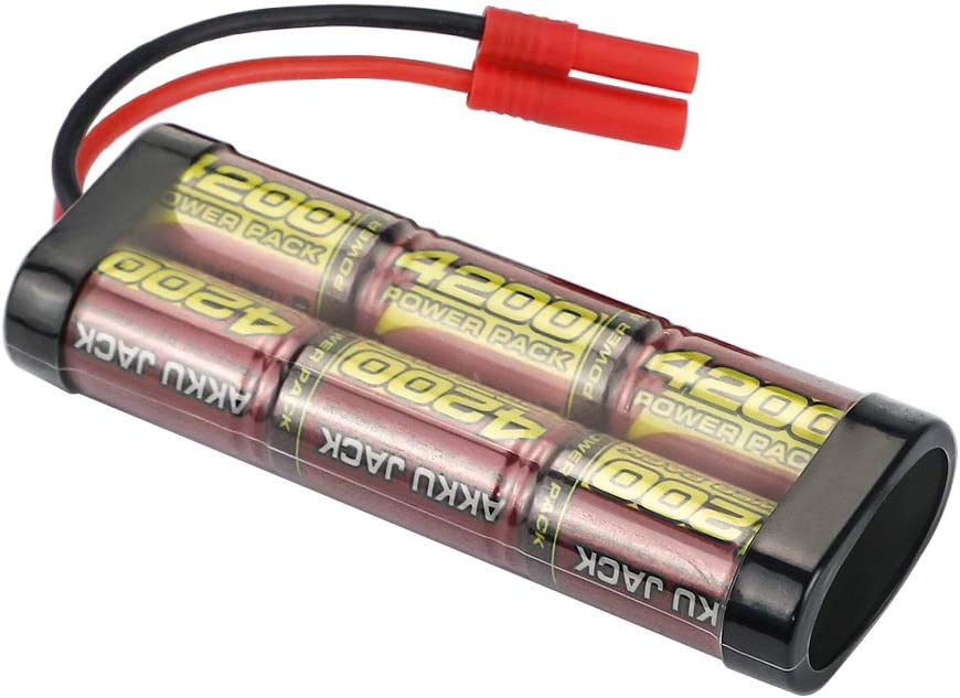 Amazon Com Melasta 7 2v 4200mah Nimh Rc Battery Packs For Redcat Racing Vehicles With Banana Connector Toys Games