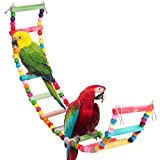 HAPPTYTOY Large Bird Toy for Parrot, Colorful