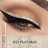 FOCALLURE Makeup Glitter Eyeliner Eyeshadow For Easy to Wear Waterproof Liquid Eyeliner Beauty Eye Liner