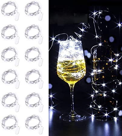 1//3M Christmas Button Cell Powered Silver Copper Wire Mini Fairy String Lights