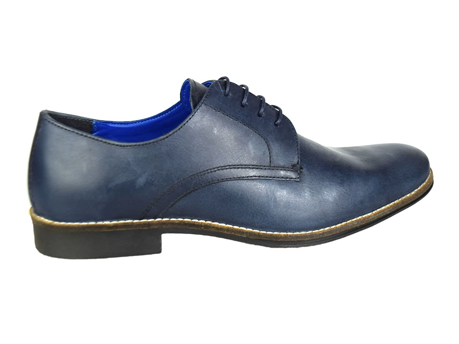 4e2fce7943b Red Tape Shannon Navy Mens Leather Formal Wedding Shoes  Amazon.co.uk  Shoes    Bags