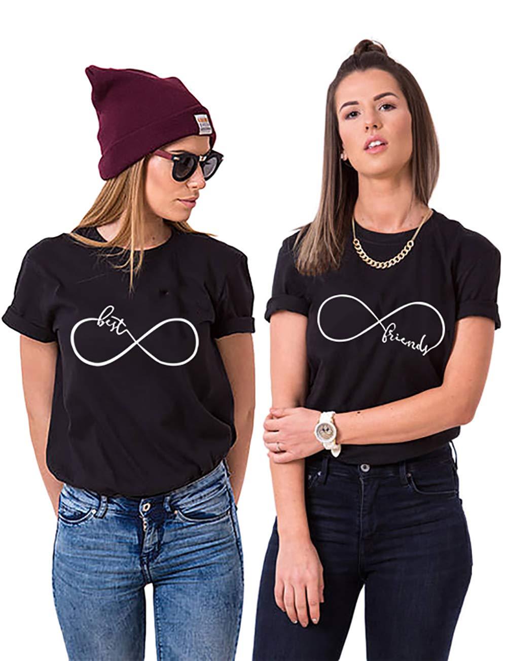 Best Friend T-Shirt für 2 BFF Sister Shirt Damen Sommer Oberteil BFF Geschenke Bild
