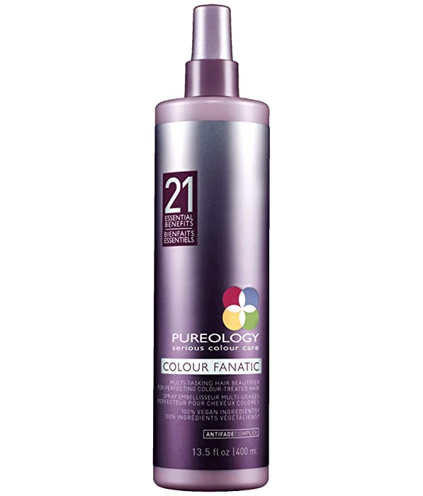 Pureology | Colour Fanatic Leave-in Conditioner Hair Treatment Detangling Spray | Protects Hair Color From Fading | Heat Protectant | Vegan