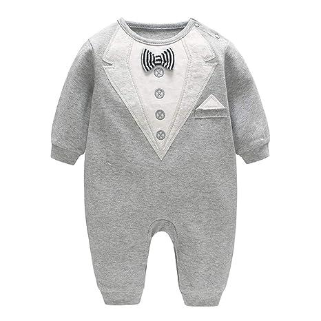 546433ca5959 Mono para bebé con corbata de lazo para fiesta de bautizo, bautizo, boda  formal