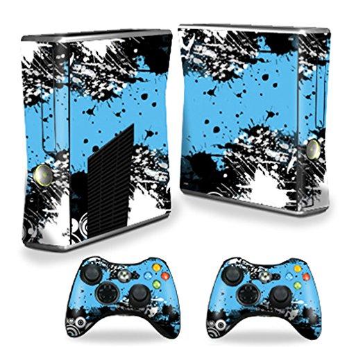 (MightySkins Protective Vinyl Skin Decal Cover for Microsoft Xbox 360 S Slim + 2 Controller skins wrap sticker skins Hip Splatter)