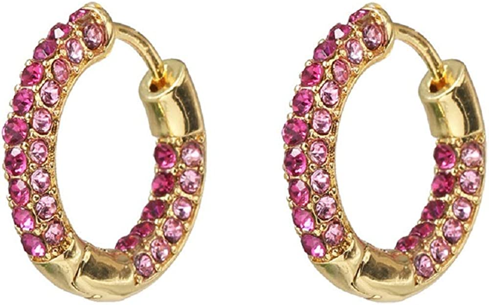Crystal Round Cuff Earrings...