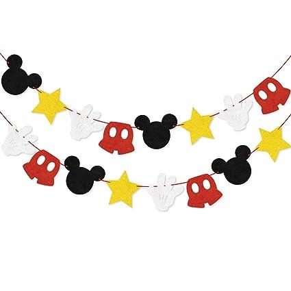 Amazon.com: Guirnalda de Mickey Mouse para fiesta de ...