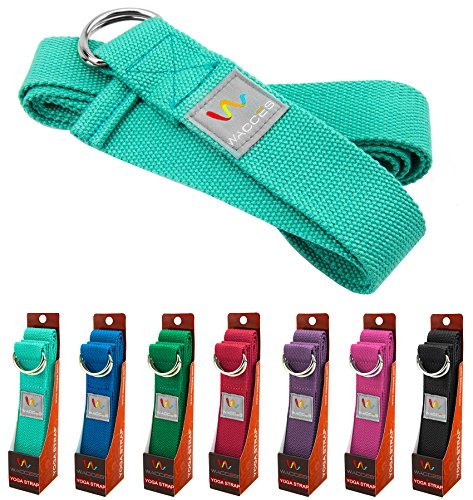 Wacces D Ring Buckle Cotton Yoga Straps Bands Best for Stretching