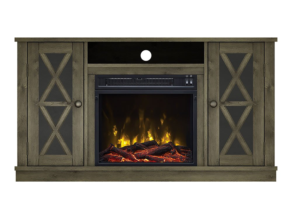 Amazon Com Willis Electric Fireplace Media Console In Spanish Gray