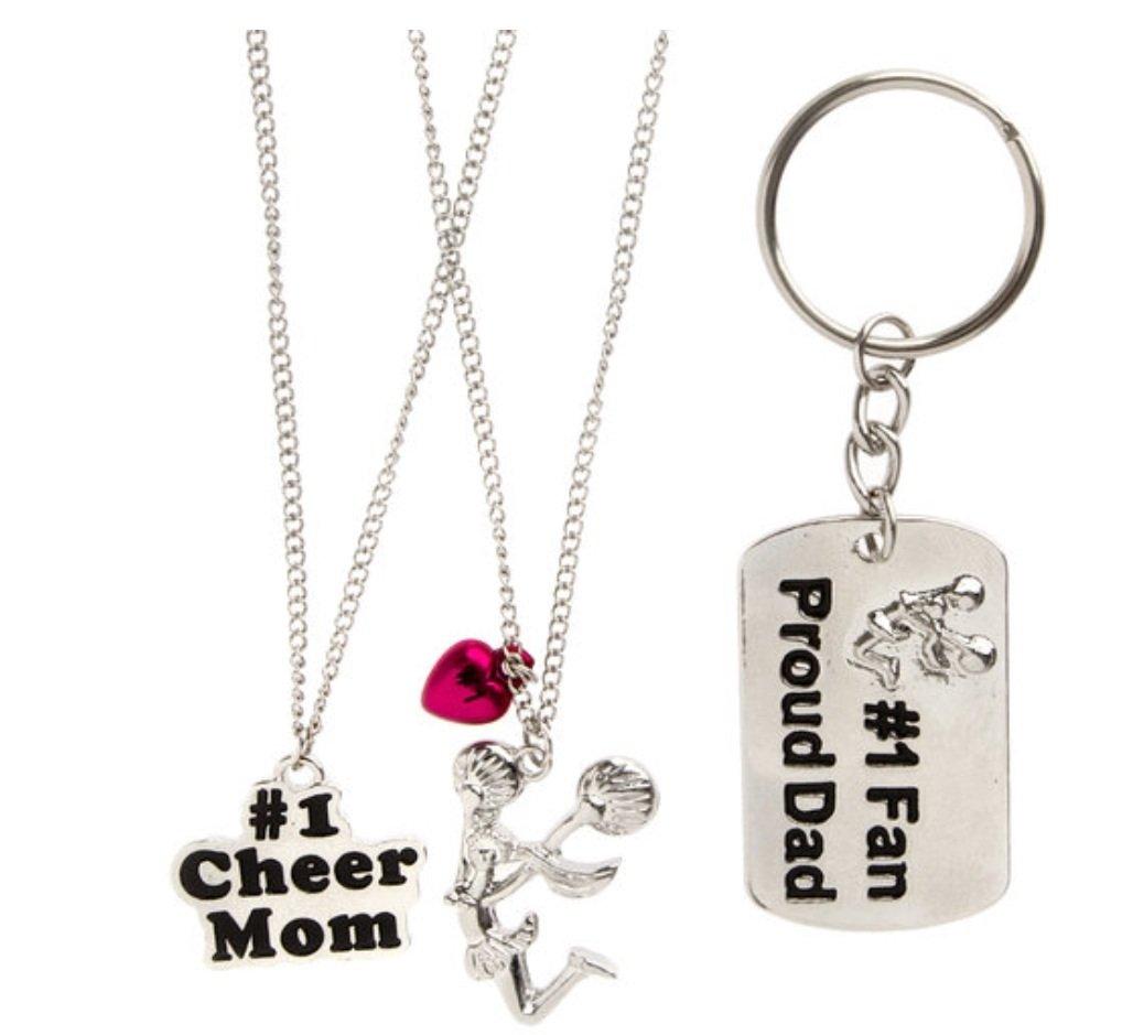 【最安値挑戦】 Set of 3 Necklaces and Keychain, Keychain, Mother Father Daughter and and Daughter Cheer B0147NAHGM, ピーストックアミューズメント:9089a0a2 --- trainersnit-com.access.secure-ssl-servers.info