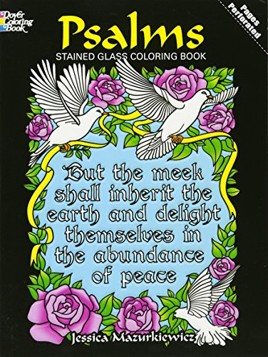 Psalms Stained Glass Coloring Book (Dover Stained Glass Coloring ()