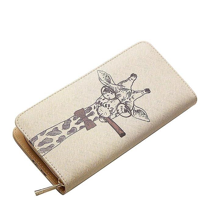 Amazon.com: woolala único ilustración billetera cierre ...