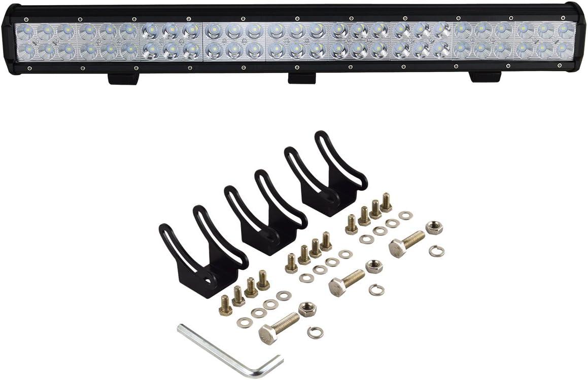 Auxtings 38cm 90W LED Barre lumineuse inondation spot Combo 6000 K ext/érieur /étanche Offroad LED Lampe de travail pour Off-road V/éhicules 4x4 ATV Utvs
