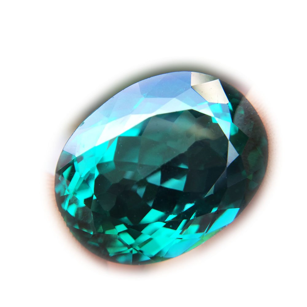 24.73ct Natural Oval Coating Green Topaz Brazil #B
