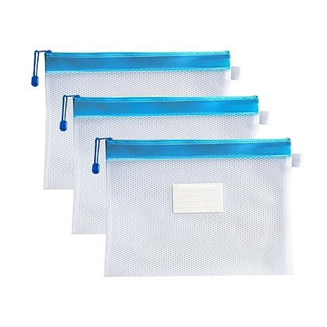 Amazon.com: Bolsas de archivo A4 con ranura para etiquetas ...
