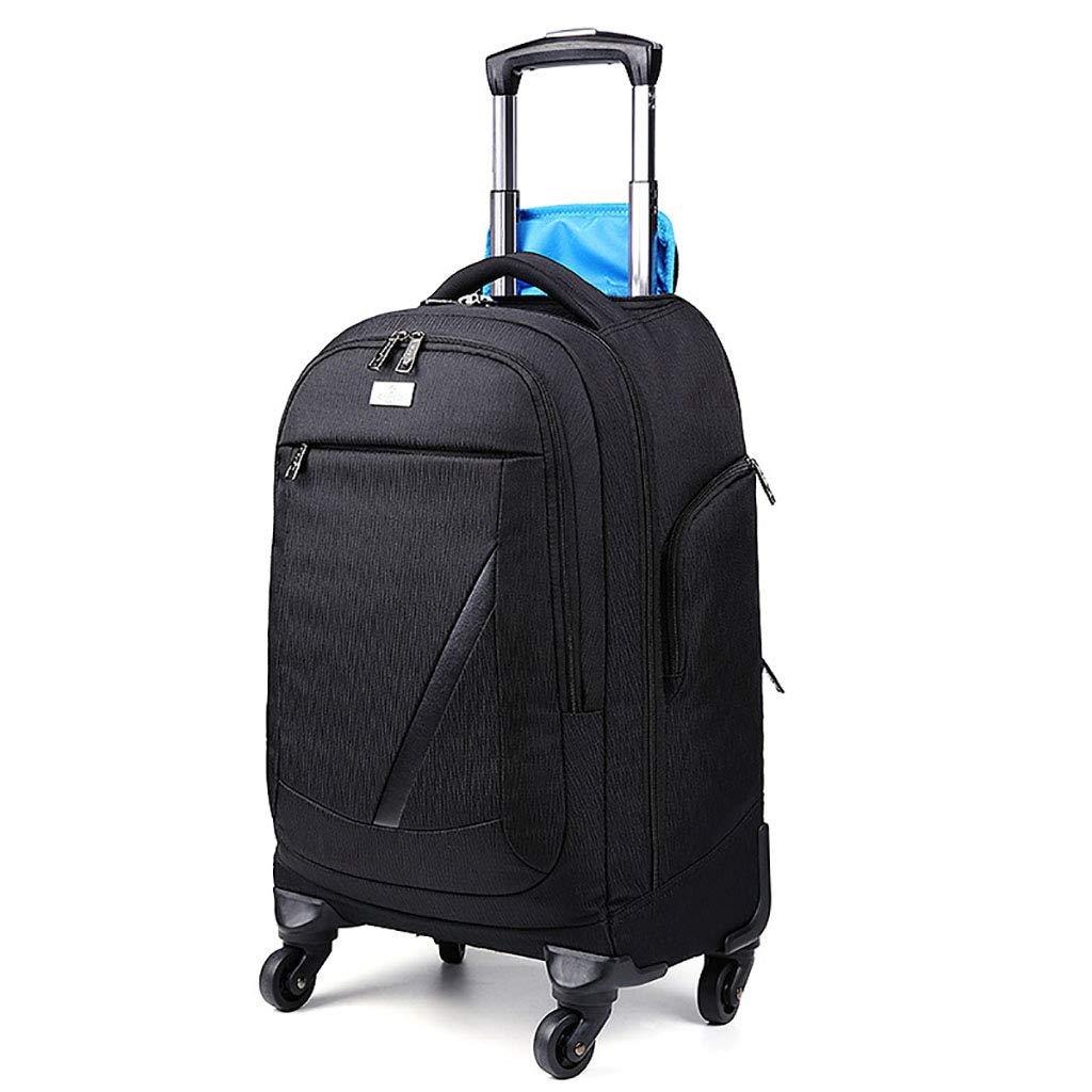 動かされたバックパック、トロリーバックパック極度の軽量のビジネス旅行のバックパック旅行のための車輪が付いているナイロン圧延のバックパック   B07NN9396F