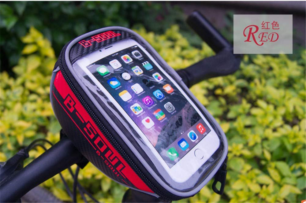 Lixada Bolsa de Manillar Bolsa de Tubo Superior de Bicicleta Soporte para Tel/éfono Celular con Pantalla T/áctil Bolsa de Marco Frontal