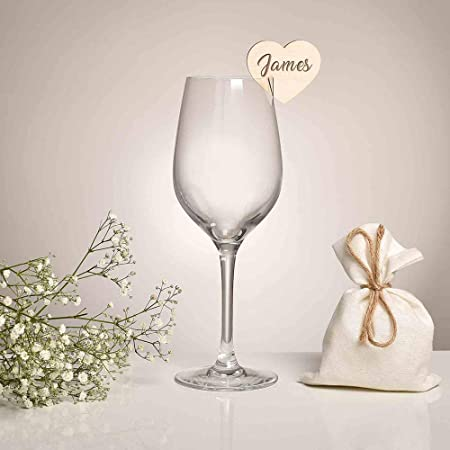 Segnaposto Matrimonio In Vetro.Bicchiere In Vetro Ciondoli In Legno Bomboniere Matrimonio