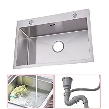 Oukaningedelstahl Waschbecken Spule Einbauspule Spulbecken