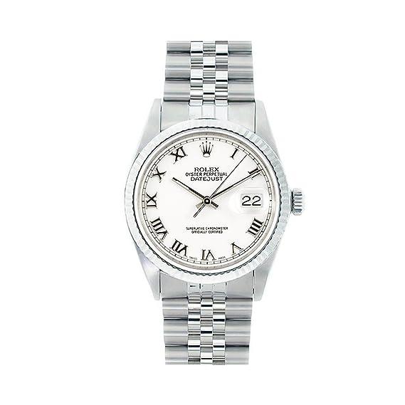 Rolex Datejust swiss-automatic Mens Reloj 16014 (Certificado) de segunda mano: Rolex: Amazon.es: Relojes
