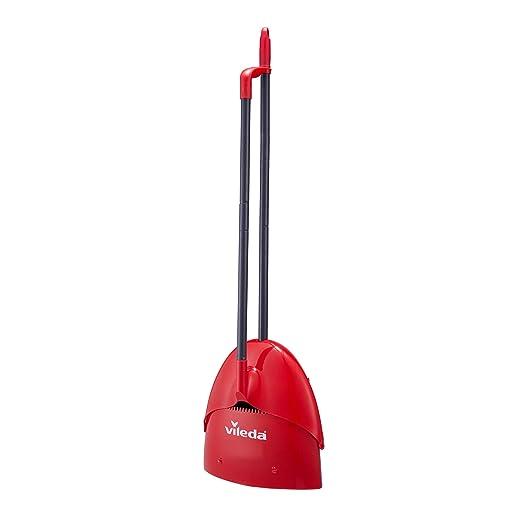 Vileda Juego de recogedor Limpio y cerrable, Rojo, 1016 mm (h), 306 mm (w), 86 cm (d): Amazon.es: Hogar