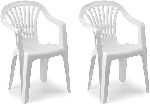 Mojawo Set di 2 sedie impilabili da Giardino Altea, in
