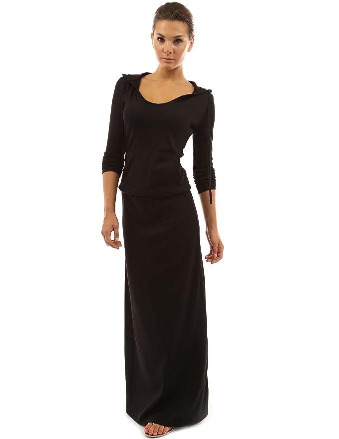 PattyBoutik Women s Hoodie Pocket Blouson Maxi Dress at Amazon Women s  Clothing store  b6a633a01