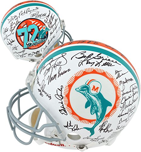 1972 Miami Dolphins 40th Anniversary Edition Autographed Pro-Line Riddell Authentic Helmet - Fanatics Authentic Certified ()