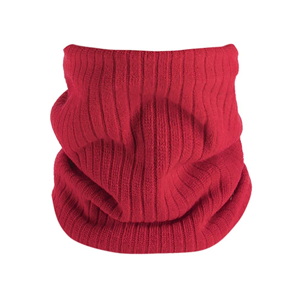Winter Double-Layer Soft Fleece Lined Thick Knit Neck Warmer Circle Scarf Windproof