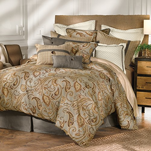 4 Piece Set Accents - HiEnd Accents 4-Piece Piedmont Comforter Set, Super Queen