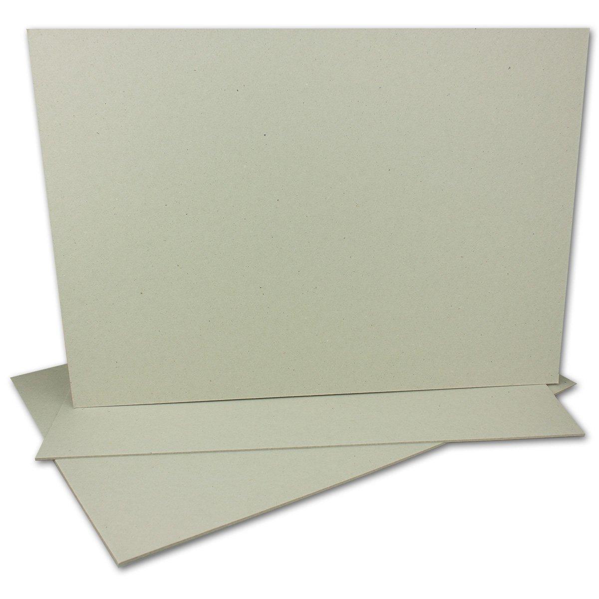 10 St/ück Farbe: Grau-Braun St/ärke 2,0 mm Format: 29,7 x 21,0 cm Grammatur: 1230 g//m/² 10 St/ück Buchbinderpappe DIN A4