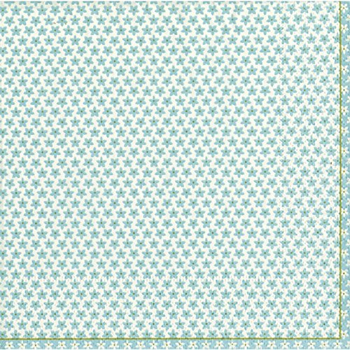 Caspari Calico Lunch Paper Napkins, Blue 20 per pack