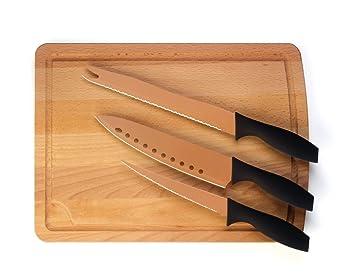 Amazon.com: Juego de 3 cuchillos de cobre.: Kitchen & Dining