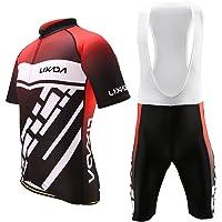 Lixada Maillots de Ciclismo Hombres Camiseta y Pantalones