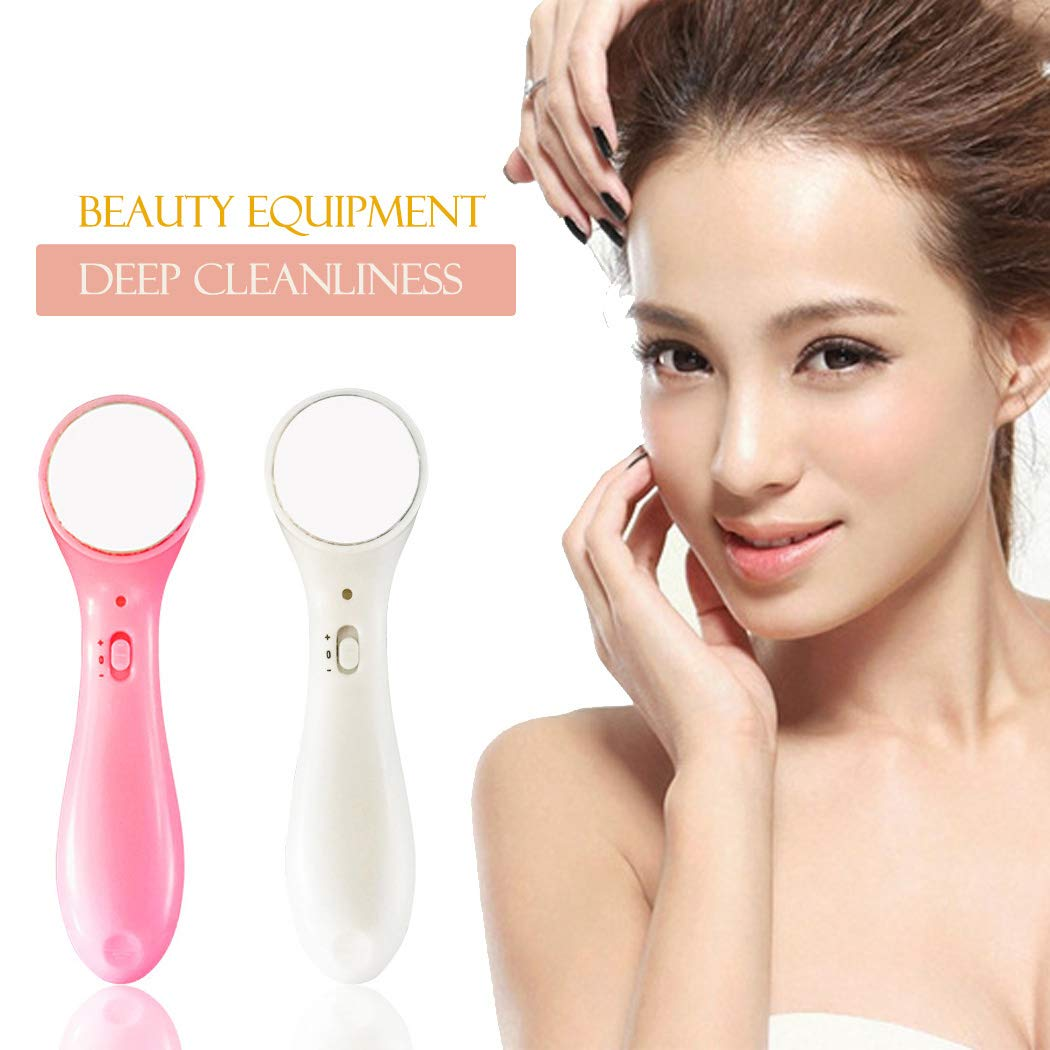 Electric Ion Facial Beauty Device Skin Care Face Cleaner Massager Facial Cleansing Devices Tools (white) KOKOBUY